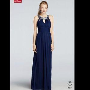 💎 Navy blue floor length prom dress 💎